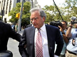 Lawyer Marc Dreier, who pleaded guilty to defrauding hedge funds out of $400 million, arrives at U.S. District Court in Manhattan for sentencing.   Original Filename: hermann07130914.JPG