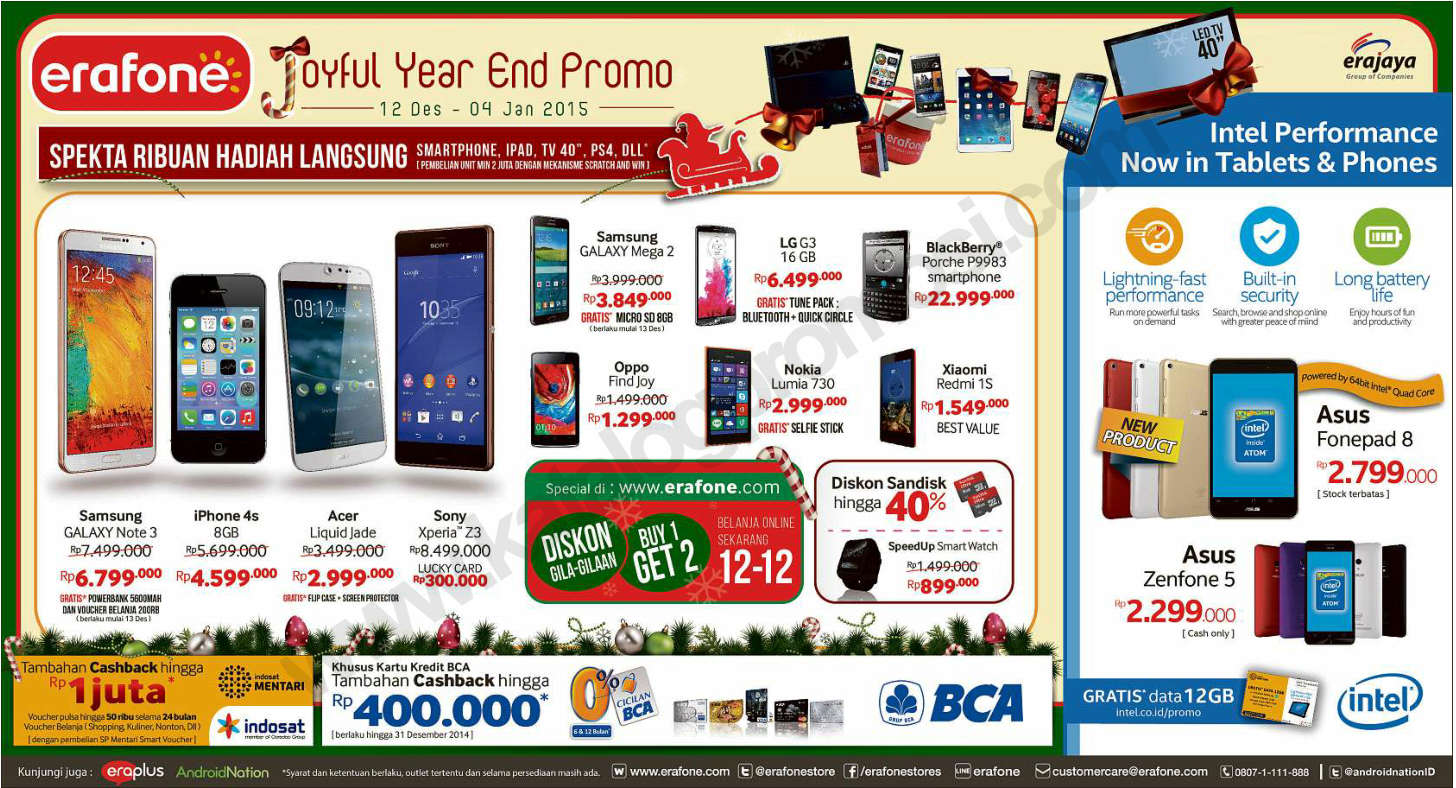 Kartu Kredit BCA: Erafone Joyful Year End Promo