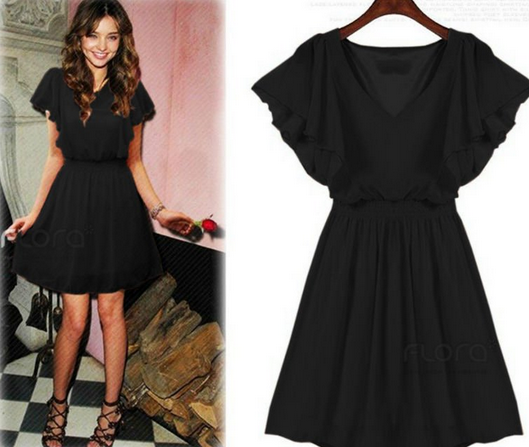 Mini-Dress-Hitam-Korea