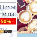 Diskon Hingga 50% di The Coffee Bean & Tea Leaf dengan Kartu Kredit Bank Mega