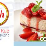 Diskon 30% di Secret Recipe dengan Promo Kartu Kredit BRI