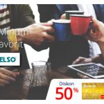 Promo Diskon 50% di Excelso dengan Kartu Kredit BRI