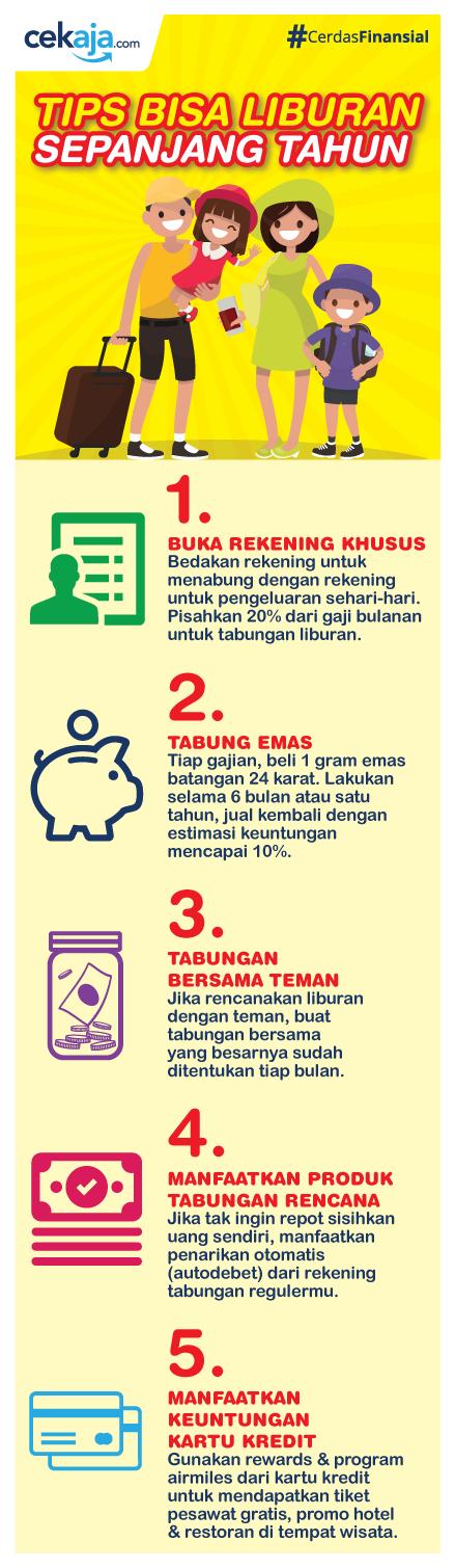 infografis-tips menabung untuk liburan - CekAja.com