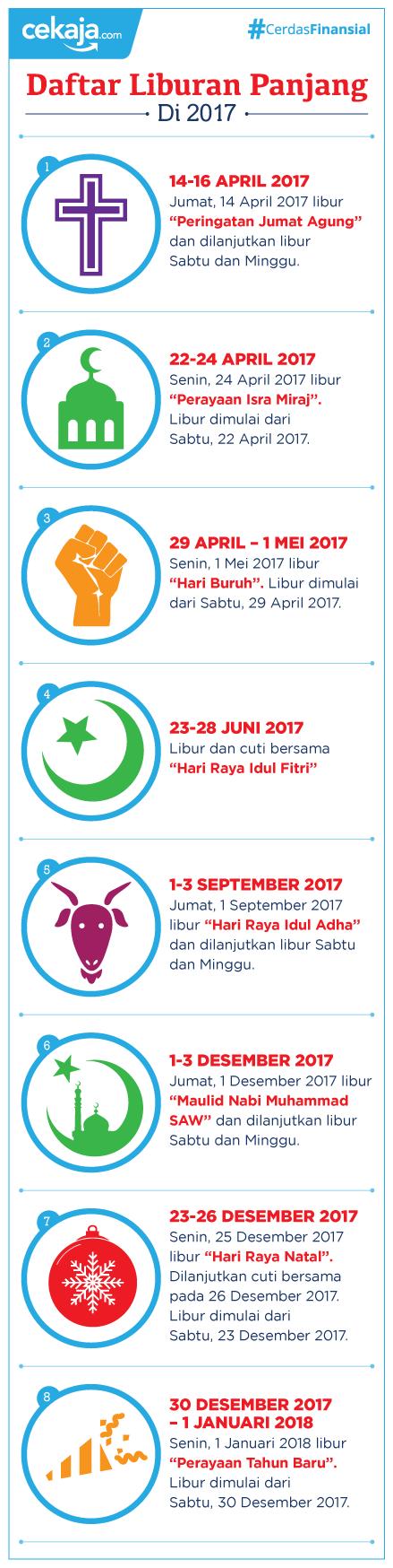 infografis-hari libur tahun 2017 - CekAja.com