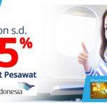 Promo Kartu Kredit BRI: Diskon 25% Tiket Garuda Indonesia